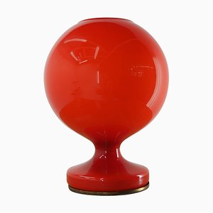 Mid-Century Red Glass Table Lamp by Stepan Tabera for OPP Jihlava, 1970s