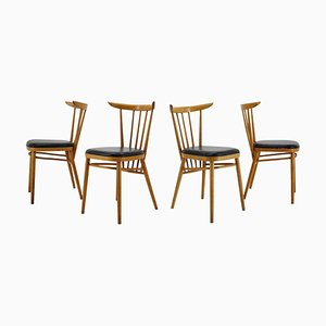 Beech Dining Chairs from Tatra, Czechoslovakia, 1960s, Set of 4