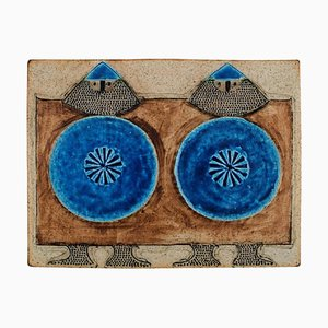 Glazed Ceramic Wall Plaque by Inger Persson for Rörstrand, 1960s