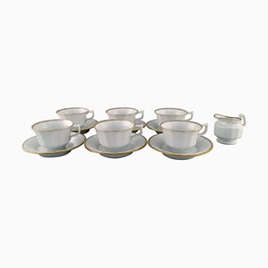 Royal Copenhagen Palace Coffee Service for Six People in Porcelain, 1980s, Set of 13
