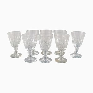 Armagnac Glass in Mouth Blown Crystal Glass from Baccarat, France, 1950s, Set of 8