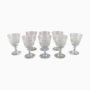 Armagnac Glasses in Mouth Blown Crystal Glass from Baccarat, France, 1950s, Set of 8