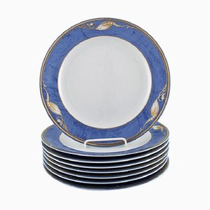 Royal Copenhagen Magnolia Dinner Plates, 1990s, Set of 8