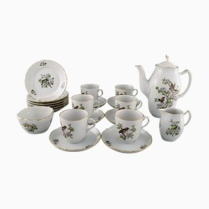 Royal Copenhagen Spring Coffee Service for Six People in Porcelain, 1980s, Set of 21
