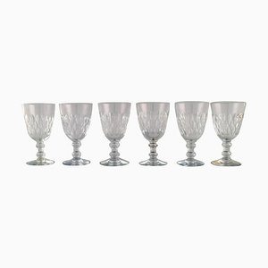 Armagnac Glasses in Mouth-Blown Crystal Glass from Baccarat, France, 1950s, Set of 6