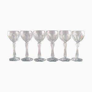 Bicchieri Lalaing in vetro soffiato a bocca di Val St. Lambert, Belgio, anni '50, set di 6