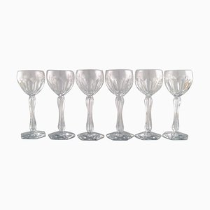 Lalaing Glasses in Mouth-Blown Crystal Glass from Val St. Lambert, Belgium, 1950s, Set of 6