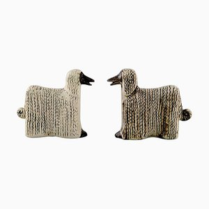 Ceramic Afghan Dogs by Lisa Larson, Set of 2