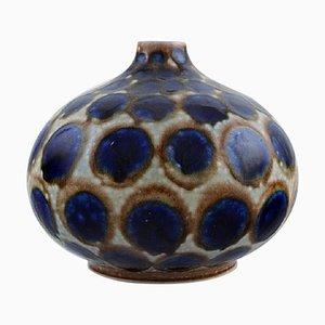 Round Vase in Glazed Ceramic, 1980s