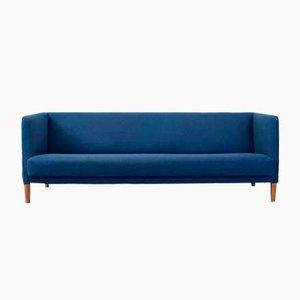 Blaues Sofa von Hans J. Wegner für Johannes Hansen, 1960er