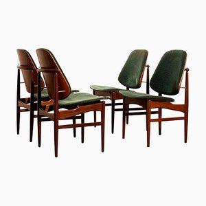 Teak Dining Chairs from Arne Hovmand-Olsen & Jutex, 1950s, Set of 4