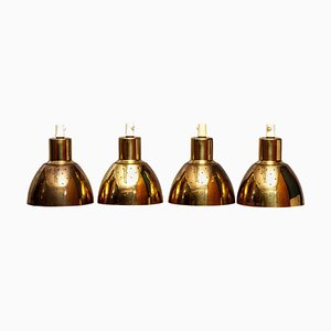 Brass Pendant Lamps by Hans-Agne Jakobsson for Markaryd, Sweden, 1960s, Set of 4