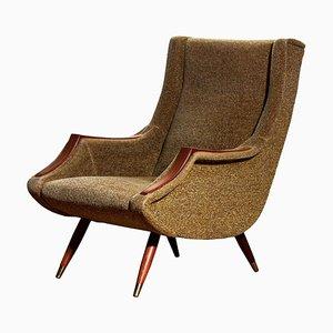 Italian Lounge or Easy Chair by Aldo Morbelli for ISA Bergamo, 1950s