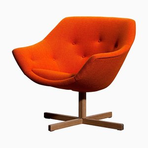 Mandarini Swivel Armchair by Nanna Ditzel & Carl Gustaf Hiort for Puunveisto OY, 1960s