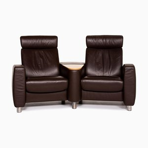 Dark Brown Leather Arion 2-Seat Sofa from Stressless