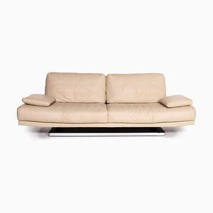 Beige Leather 6500 3-Seat Sofa by Kein Designer for Rolf Benz