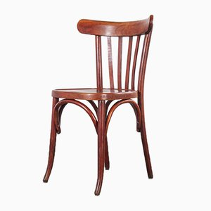 Bentwood Spice Bistro Dining Chairs from Baumann, 1950s, Set of 12