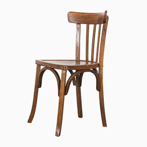French Bentwood Model 2 Bistro Dining Chairs from Baumann, 1950s, Set of 12
