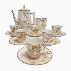 Antique Limoges Porcelain Coffee Set, 1900s