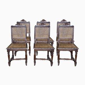 Chaises de Salon Antique, France, Set de 6
