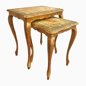 Antique Italian Nesting Tables, Set of 2