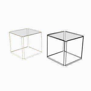 Beistelltische aus Metall und Glas von Max Sauze für Max Sauze Studio, 2er Set