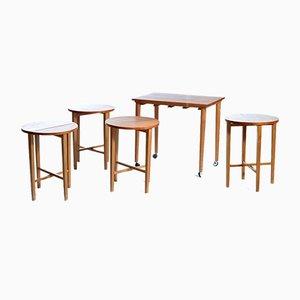Satz- oder Sitzgarnitur aus Teak, Tschechoslowakei, 1970er, 5er Set