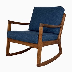 Mid-Century Teak Rocking Chair by Ole Wanscher for France & Søn / France & Daverkosen, 1960s