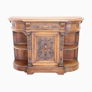 Antique Carved Walnut Sideboard, 1880s