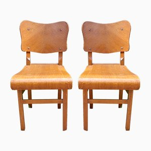Bistro Chairs, 1950s, Set of 2