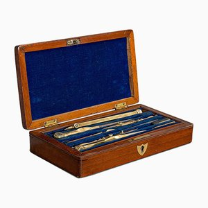 Vintage Draughtsman's Instrument Set from H. Hughes & Son, 1940s
