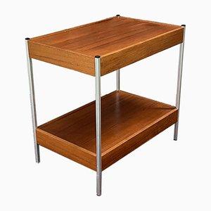 Mahogany and Aluminum Side Table, 1970s