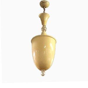 Große Vintage Murano Glas Deckenlampe, 1950er