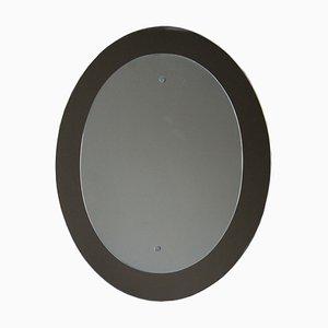 Italienischer Ovaler Mid-Century Spiegel von Metalvetro Galvorame, 1960er