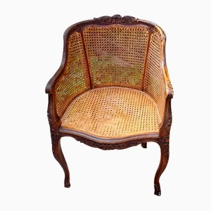 19th Century Louis XV Style Caned Office Chair