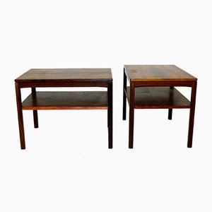 Swedish Rosewood Nightstands, 1960s, Set of 2