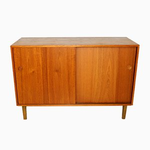Scandinavian Teak and Beech Chest of Drawers, 1960s