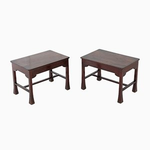 Antique French Mahogany Side Tables, Set of 2