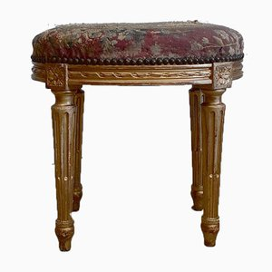 Small 19th Century Louis XVI Style Wooden Dore Stool
