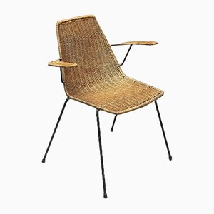 Mid-Century Italian Wicker Garden Chair from Campo e Graffi, 1950s