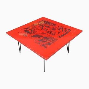 Tavolino da caffè vintage di Atelier Fornasetti, anni '70