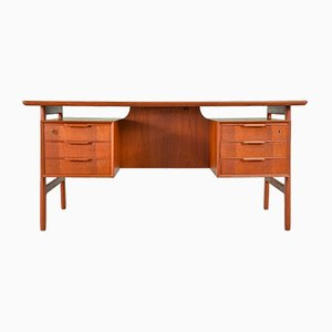 Danish Teak Model 75 Desk from Omann Jun, 1960s