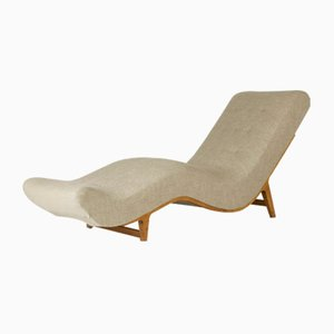 Vintage Swedish Chaise Lounge, 1940s