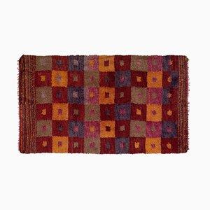 Floraler Vintage Flokati Tulu Teppich im marokkanischen Stil, 1970er