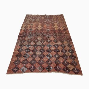 Vintage Turkish Distressed Soumac Rug, 1970s