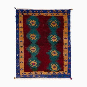Small Vintage Turkish Handmade Tulu Rug, 1970s