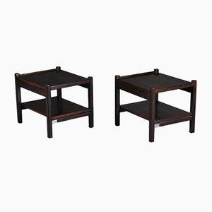 Tables de Chevet par Ettore Sottsass pour Poltronova, Italie, 1960s, Set de 2
