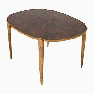 Table Basse Vintage en Racine de Noyer par Axel Larsson pour Hjalmar Jacksson