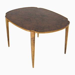 Vintage Walnut Root Coffee Table by Axel Larsson for Hjalmar Jacksson