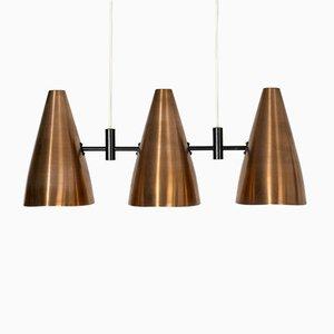 Lámpara de techo Mid-Century de cobre de Eje Ahlgren